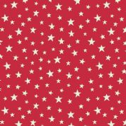 Lewis & Irene - Christmas Glow - 6704 -  Stars on Red (Glow in the Dark) - C48.2 - Cotton Fabric